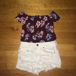 Pac sun Kendall & Kylie floral shirt
